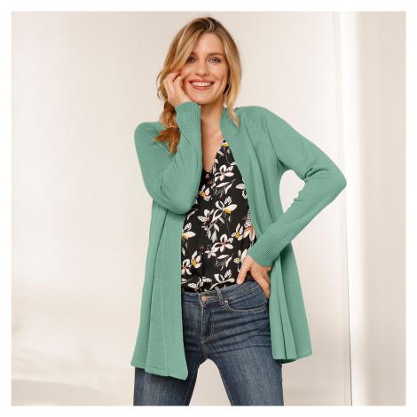 Blancheporte Dlouhý svetr s dlouhými rukávy zelenkavá