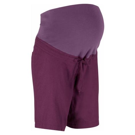Těhotenské šortky ze lnu Bonprix