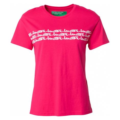 UNITED COLORS OF BENETTON Tričko pink / bílá