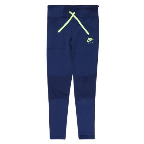 Nike Sportswear Kalhoty modrá / kiwi