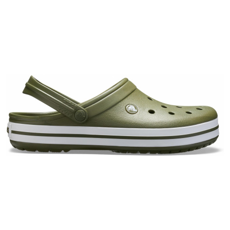 Crocs Crocband Army Green/White