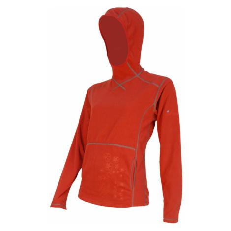 Mikina s kapucí SENSOR Smartfleece dám. červená