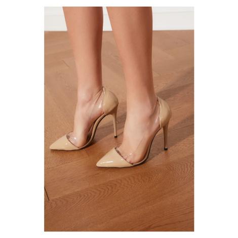 Trendyol Beige Transparent Detail Women's Classic Heels