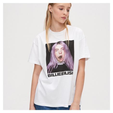 Cropp - Tričko Billie Eilish - Bílá