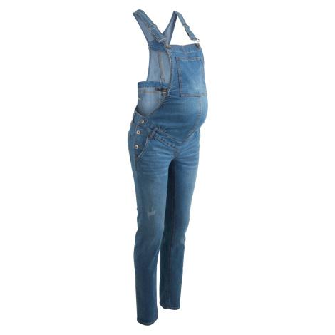 Těhotenské džíny s laclem Straight Bonprix