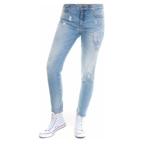 Big Star Woman's Trousers 115541 Light Jeans-244
