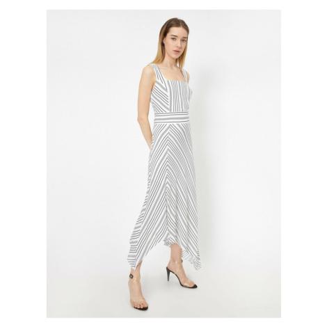 Koton Women's Grey Striped Dress