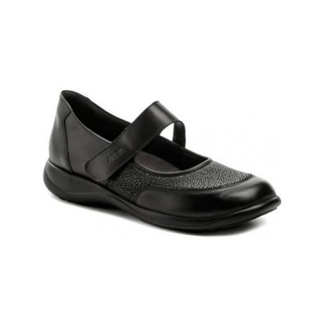 Axel AXCW062 černé dámské polobotky boty šíře H Černá