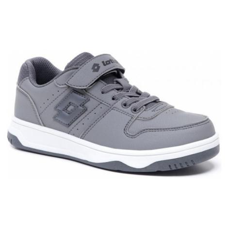 Lotto BASKETLOW NU CL SL šedá - Chlapecká volnočasová obuv