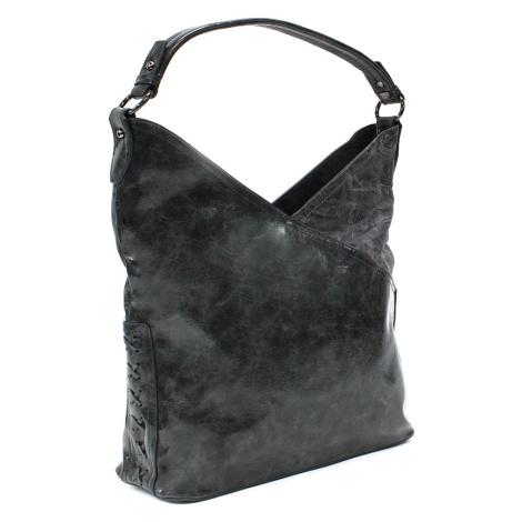 Tmavě šedá moderní dámská kabelka přes rameno Ivette Mahel