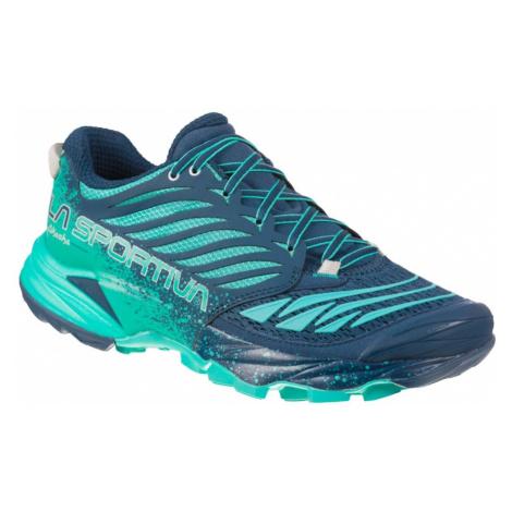 Dámské Trailové Boty La Sportiva Akasha Woman Carbon/pacific Blue