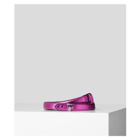 Opasek Karl Lagerfeld K/Ikonik 3D Pin Belt - Růžová