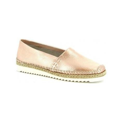 Leonardo Shoes 010 PERLATO RAME Růžová