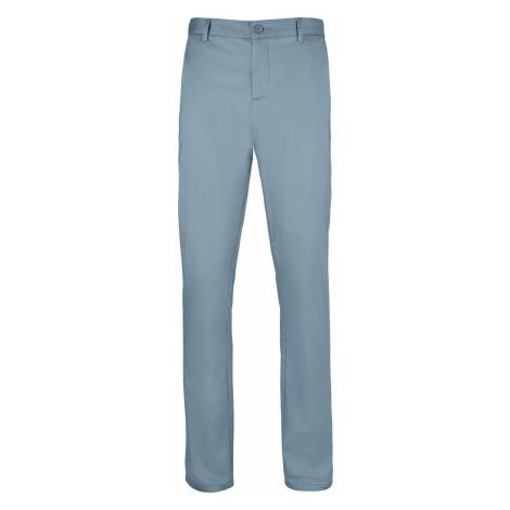SOĽS Pánské saténové kalhoty JARED MEN 02917250 Creamy dark blue SOL'S