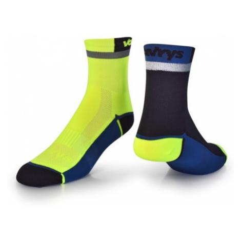 Ponožky Vavrys Trek Cyklo 2-pack žlutá-černá