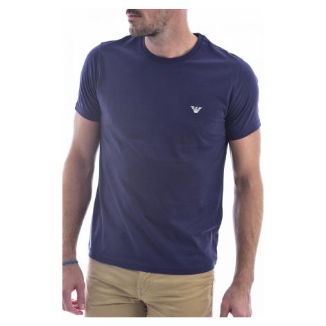 Armani Emporio Armani pánské tmavě modré tričko s logem