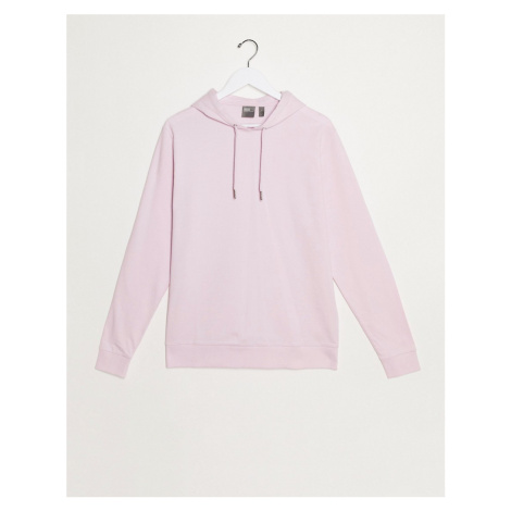 ASOS DESIGN lightweight hoodie in pastel pink-Purple