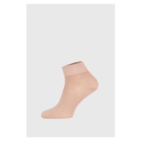 Béžové bambusové ponožky středně vysoké GINO