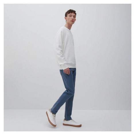 Reserved - Bavlněné kalhoty slim fit - Modrá