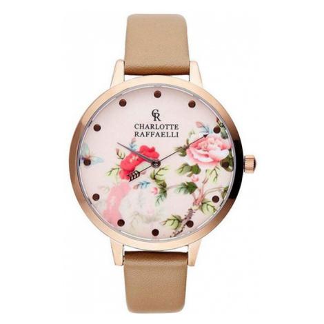 Béžovo-ružové hodinky CRF031 Charlotte Raffaelli