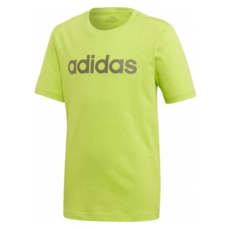 adidas YB E LIN TEE zelená - Chlapecké triko