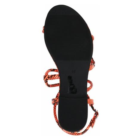 BUFFALO Páskové sandály oranžová