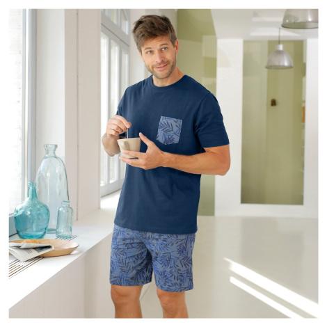 Blancheporte Pyžamo se šortkami a krátkými rukávy námořnická modrá