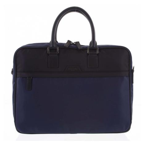 Pánská taška na notebook modro černá - Hexagona Aslan