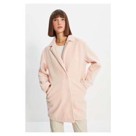 Trendyol Powder Piping Wool Cachet Coat