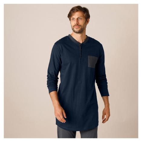 Blancheporte Pyžamové tričko s tuniským výstřihem, námořnicky modré námořnická modrá