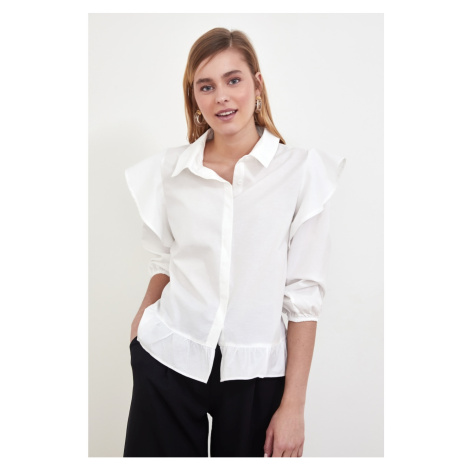 Trendyol Ekru Flywheel Shirt