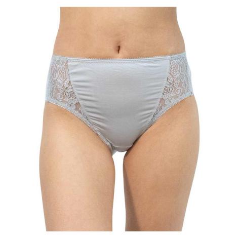 Dámské kalhotky Gina šedé s krajkou (10120)