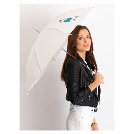 Dámský deštník s potiskem ecru
