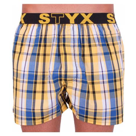 Pánské trenky Styx sportovní guma vícebarevné (B636)