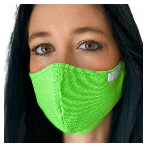 NANO rouška FIX AG-TIVE 10F 99,9% (2-vrstvá s kapsou, fixací nosu a 10 filtry) Zelená